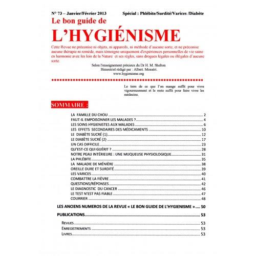 N°073 - Le bon guide - Spécial Phlébite, Surdité, Varices, Diabète