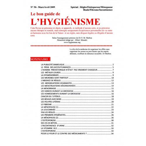 N°050 - Le bon guide - Spécial Règles, Ostéoporose, Ménopause, Boule, Fibrome, incontinence