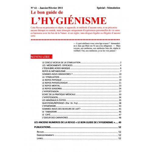 N°061 - Le bon guide - Spécial Stimulation