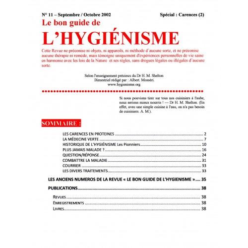 N° 011 - Le bon guide - Spécial Carences (2)