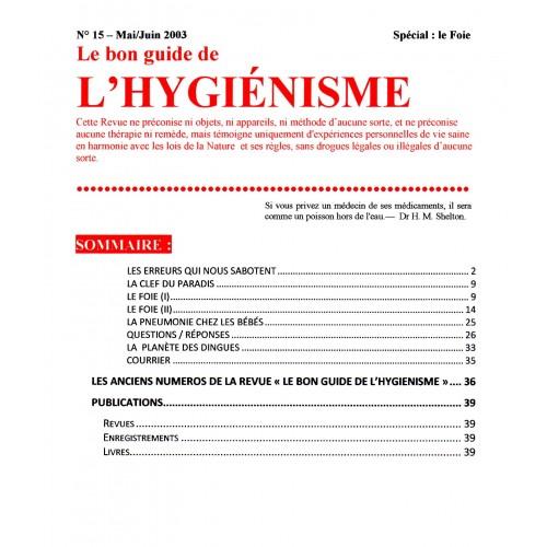 N° 015 - Le bon guide - Spécial Foie