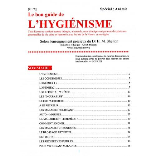 N° 071 - Le Bon Guide - Spécial Anémie