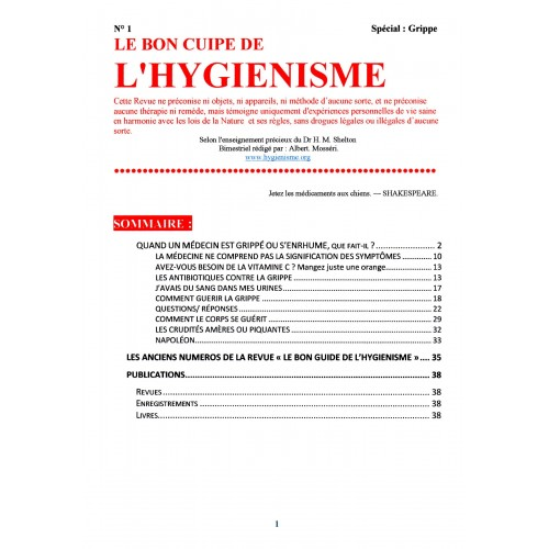 N° 001 - Le Bon Guide - Spécial  Grippe