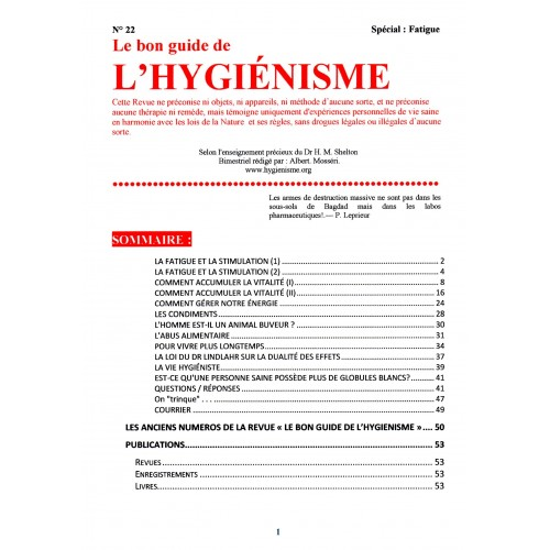 N° 022 - Le Bon Guide - Spécial Fatigue