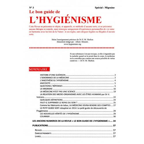 N° 003 - Le Bon Guide - Spécial Migraine