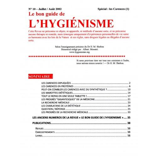 N° 010 - Le bon guide - Spécial Carences (1)