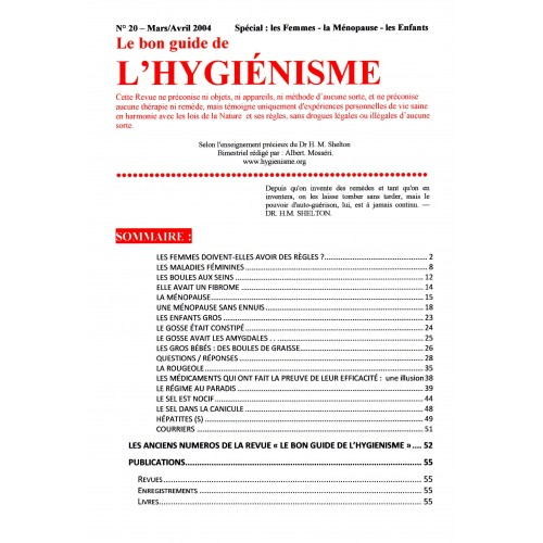 N° 020 - Le bon guide - Spécial Femmes, menopausse, enfants