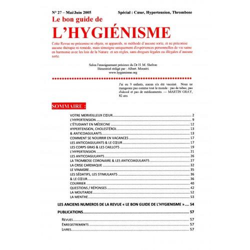 N° 027 - Le bon guide - Spécial Coeur, Hypertension, Trombose