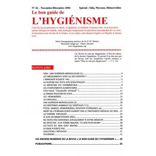 N° 036 - Le bon guide - Spécial Sida, Mycoses, Hémorroïdes