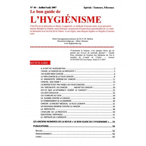 N°040 - Le bon guide - Spécial Tumeurs, Fibromes